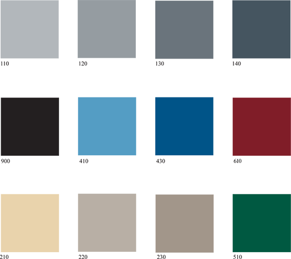 Epoxy Color Chart Tri State Industrial Floors