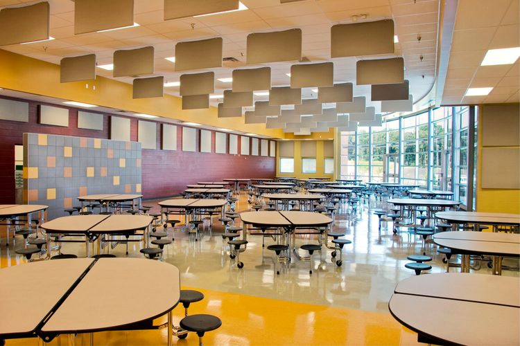 Modern Middle School Cafeteria Architecture