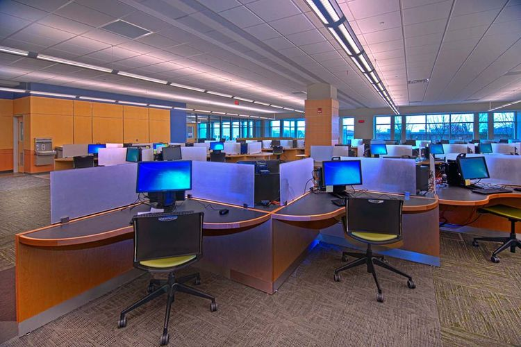 UTC Library Computers Interior Design