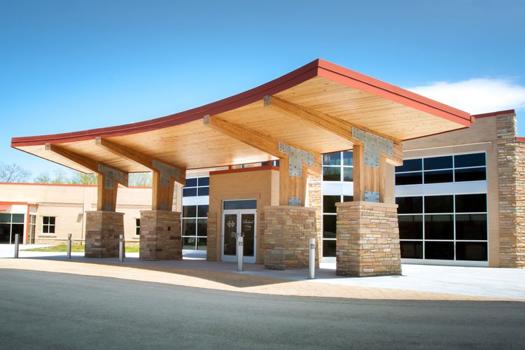 Cumberland Medical Center Wood Awning