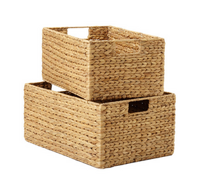 Water hyacinth bins