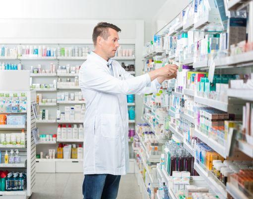 Pharmacist Sorting Medications