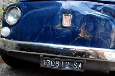 Amalfi Coast Blue Fiat