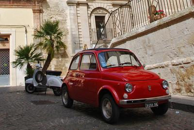 Sicily, red Fiat