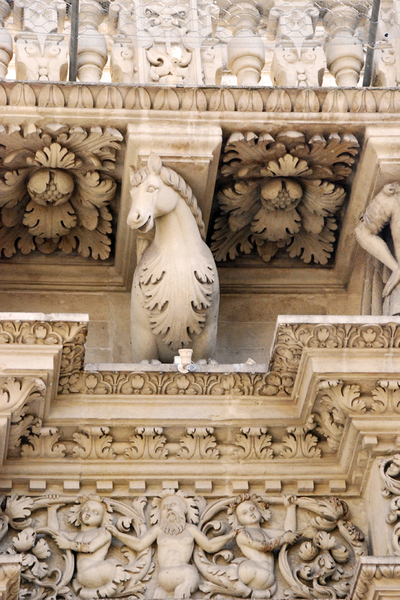 Lecce cathedral detail