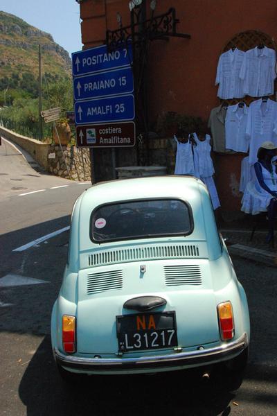 Amalfi Coast Fiat 500