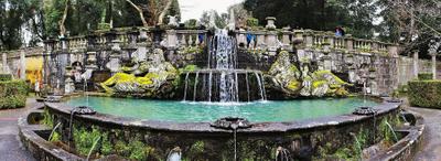 Lillian Cooper, Villa Lante Fountain.jpg