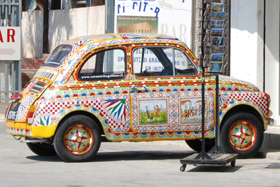 Sicily, painted Fiat.jpg
