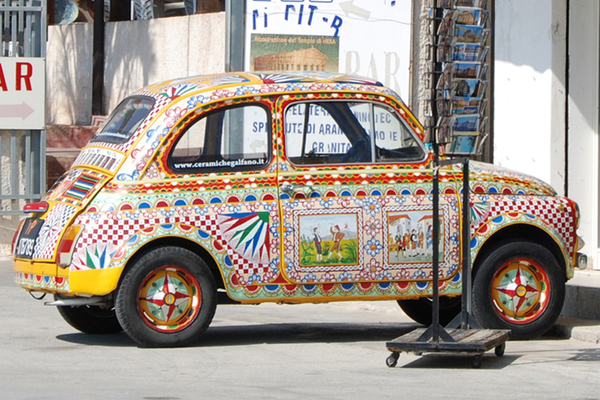 Sicily, painted Fiat.jpg