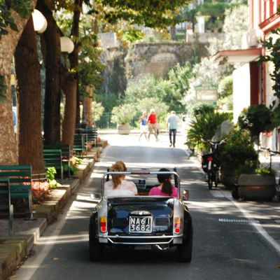 On the road in Sorrento