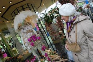 Dress made of orchids at Keukenhof Gardens near Amsterdam.jpg