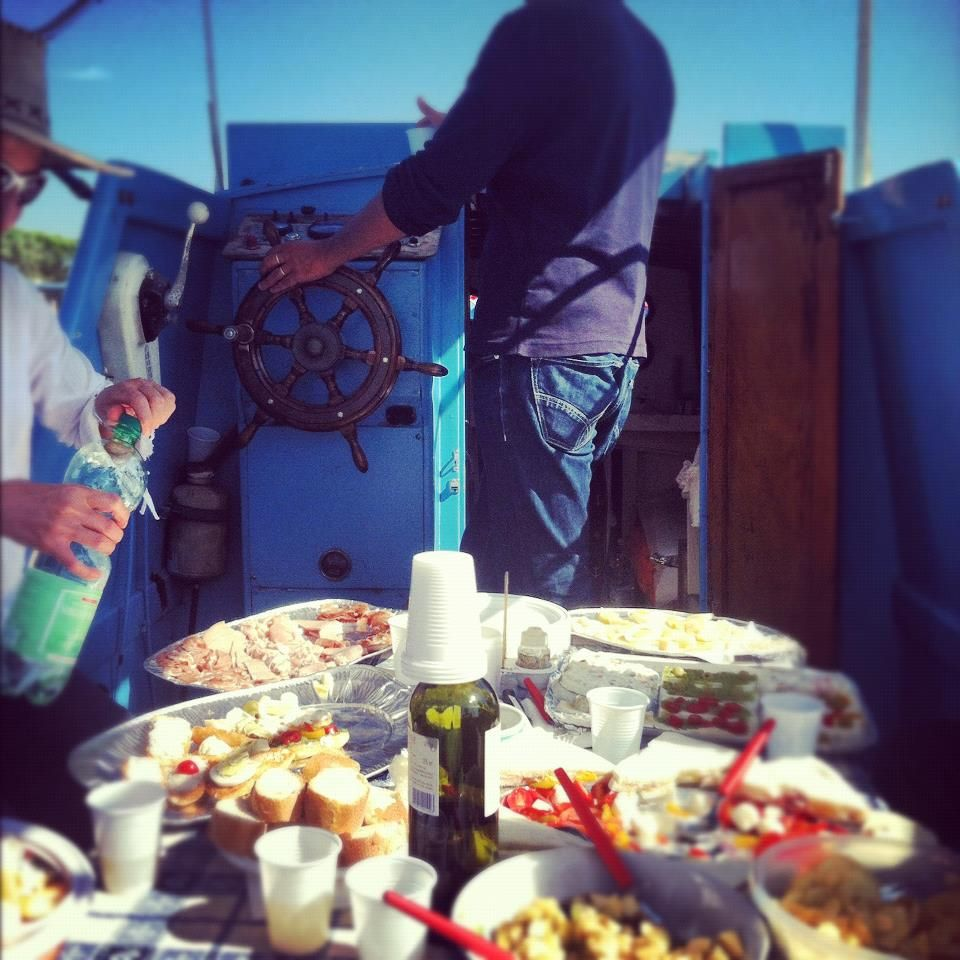 lunch on the boat
