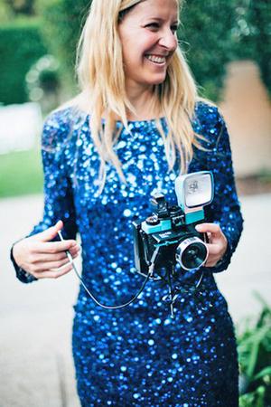 Dopson with Diana camera