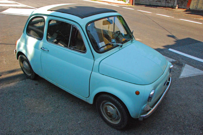 Amalfi Coast Fiat Naples Blue