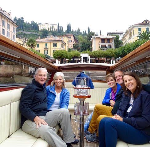 On the boat, Lago di Como