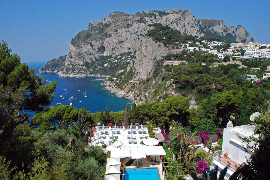 Villa Brunella view, Capri
