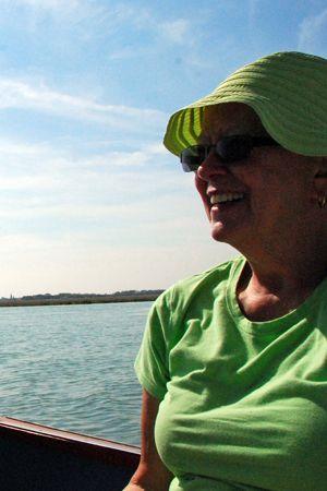 Terri on the boat