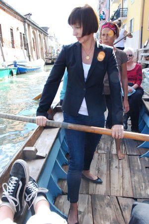 Bess rowing