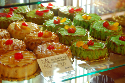 Venice, pastries with red cherries.jpg
