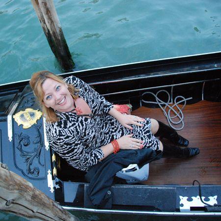 Sarah on the gondola
