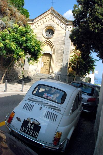 Positano White Fiat 500