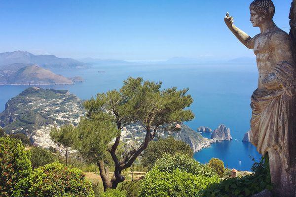 View from Monte Solaro, Capri