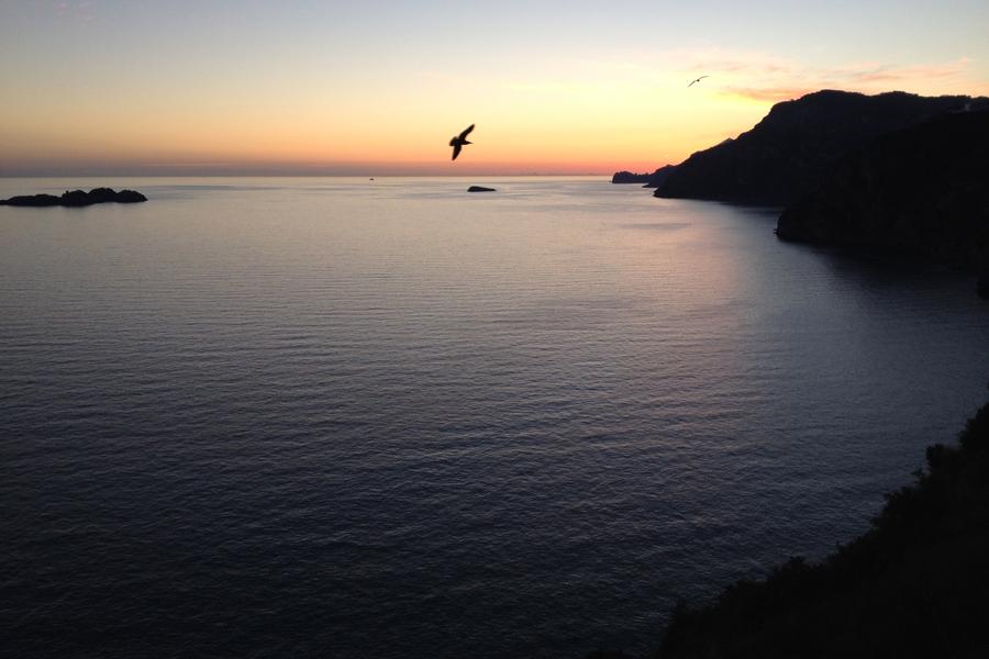 Sunset on the Amalfi Coast