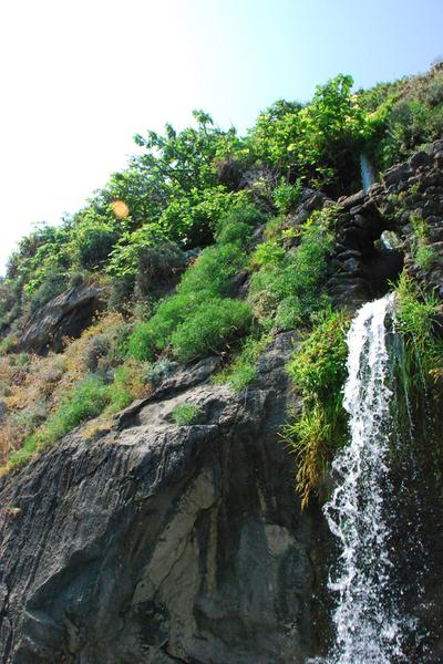 Amalfi Coast waterfall