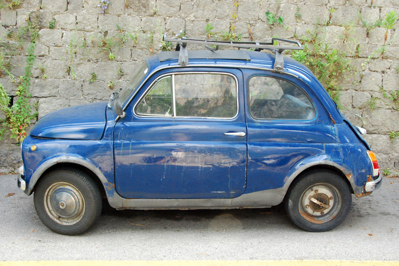 Amalfi Coast Fiat Blue