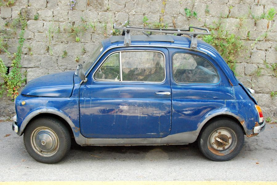 Amalfi Coast Fiat Blue
