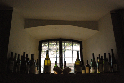 Umbria, wine bottle window.jpg