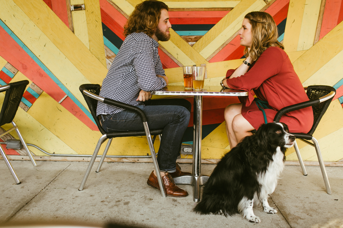 austin engagements with dog