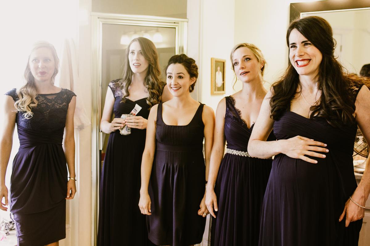 happy bridesmaids austin