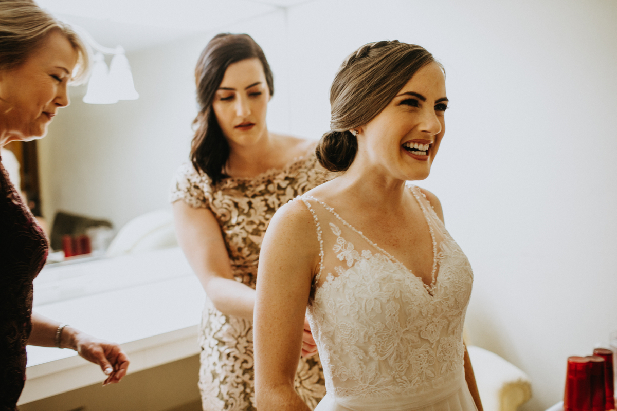 happy austin texas bride