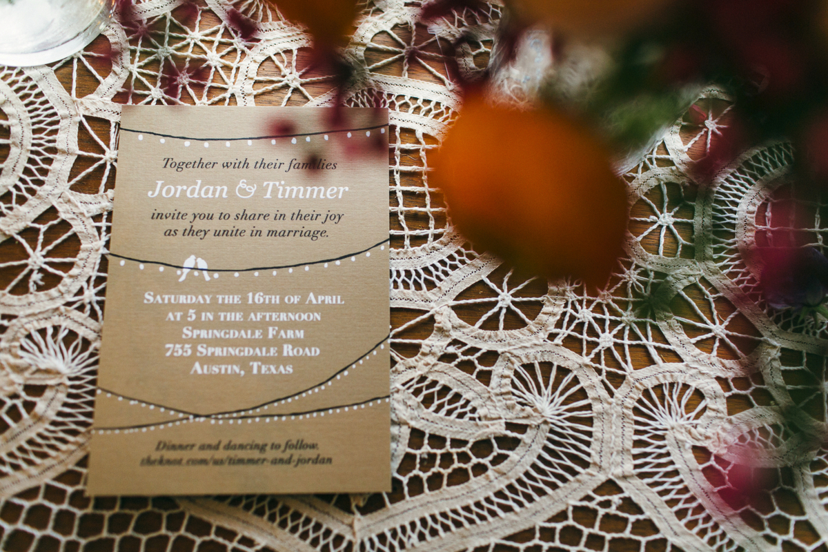 austin texas wedding program