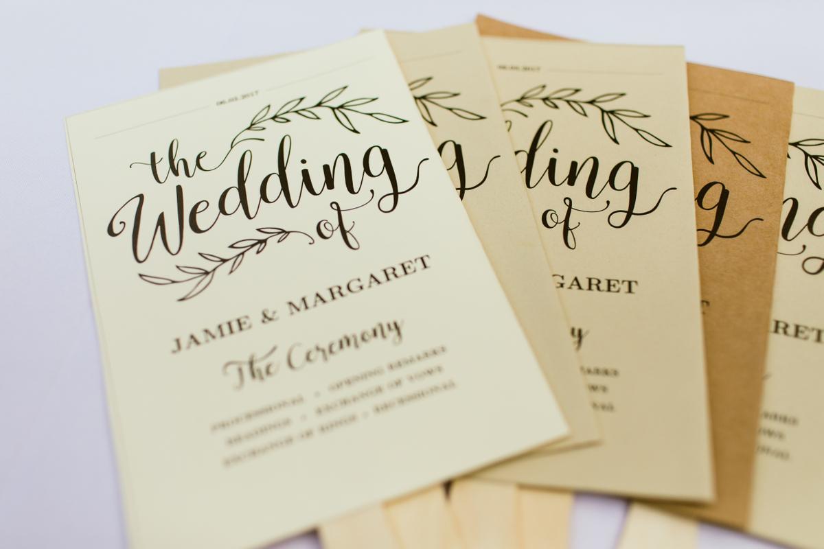 austin wedding program