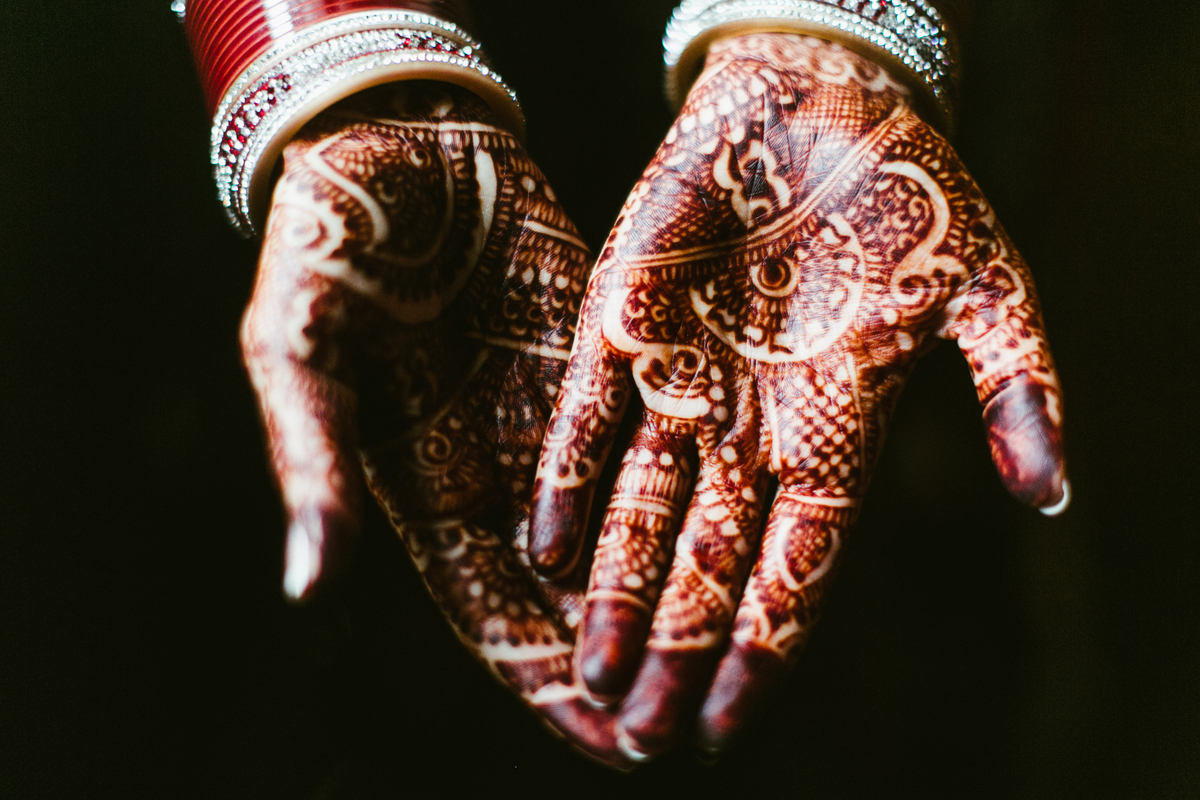 henna indian wedding hands texas