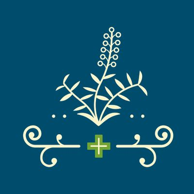 Solace_PharmacyWellnessShop_Logo_Green_wCreamLavender_ThirdGraphicMark_OnDarkBlue.jpg