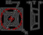 K-Tool, Inc.  Positive Top Insert Illustration