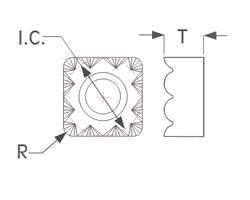 K-Tool, Inc. SNGC-H Insert Dimensions