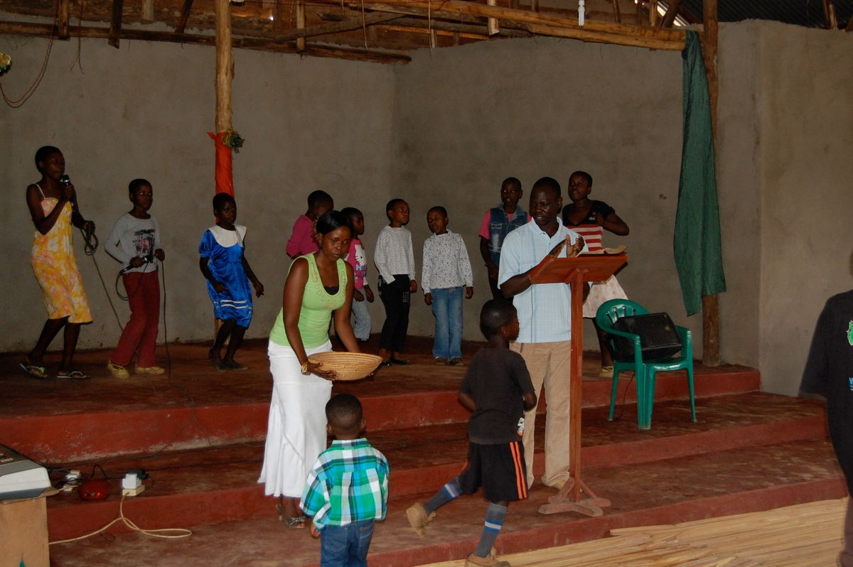 Bweya Community Church may be small but they give huge sacrificial offerings