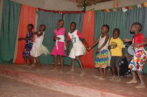 Children worship through dance