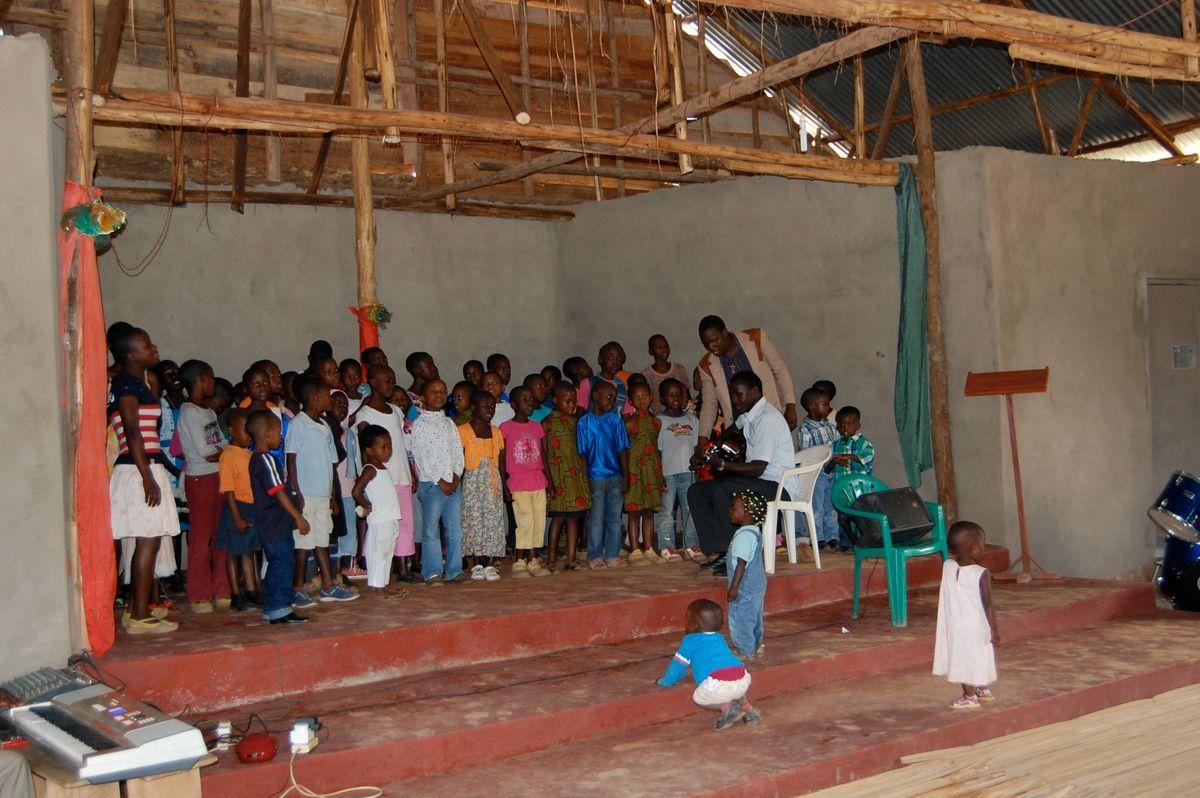 Children's choir at Bweya Community Church