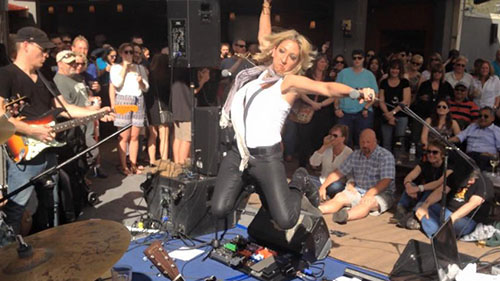 Ginger Leigh at Love. on the Rooftop SXSW 2015