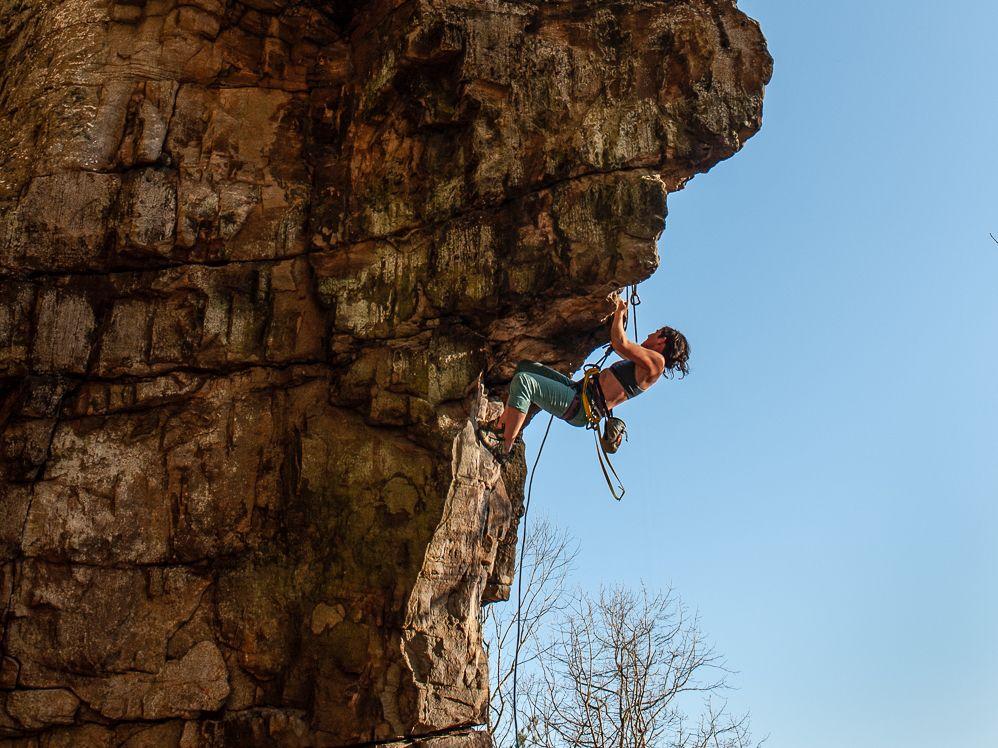 Denny Cove Rock Climber
