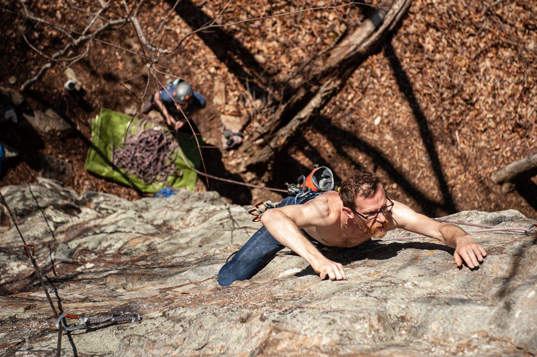 Rock Climber at Denny Cove