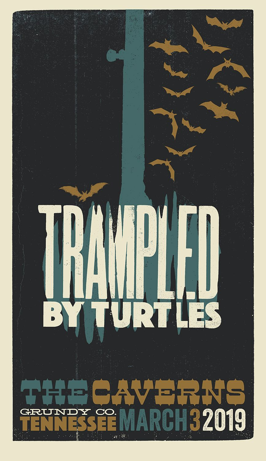 Trampled by Turtles The Caverns 2019 poster art Brad Vetter.jpeg
