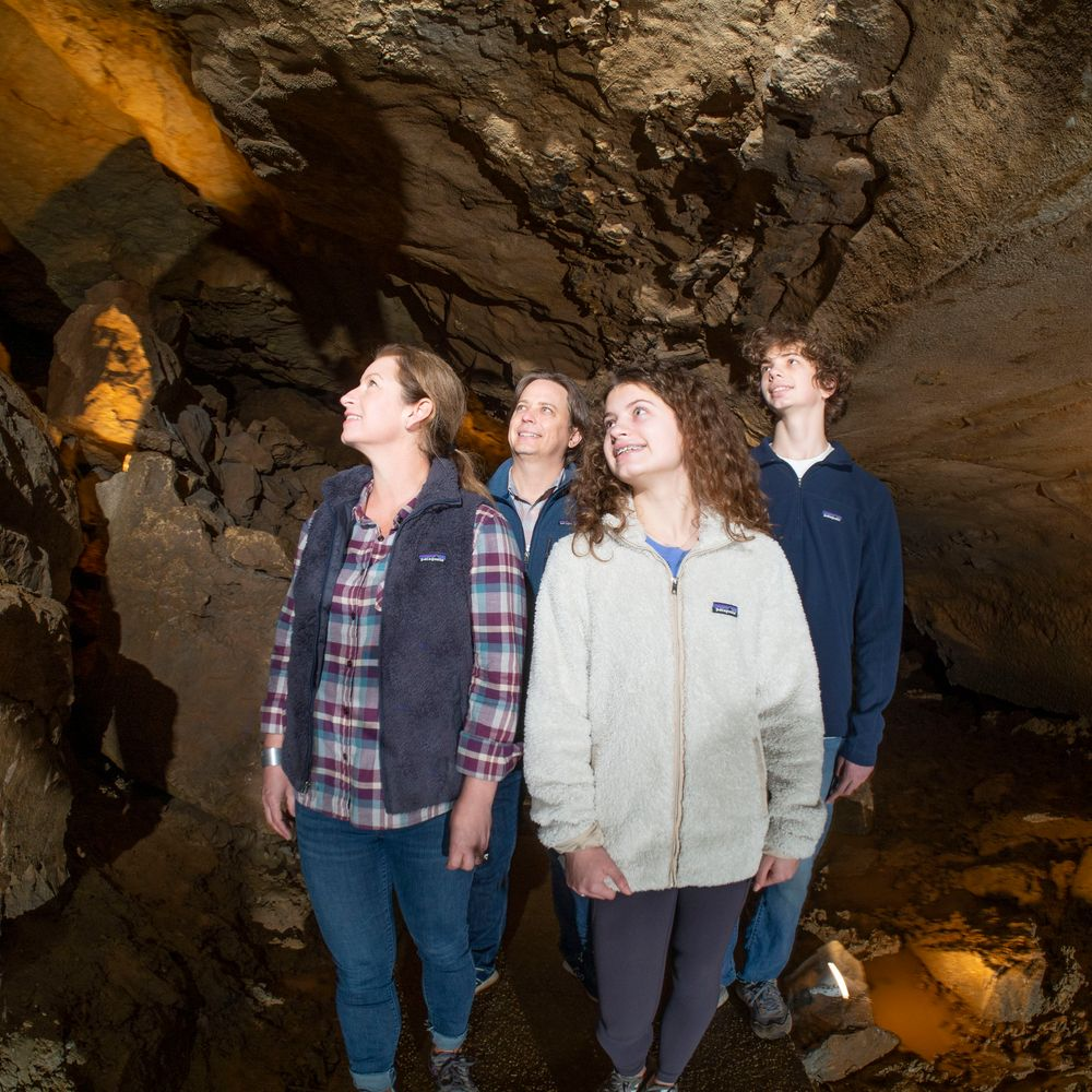 A Family Tours The Caverns