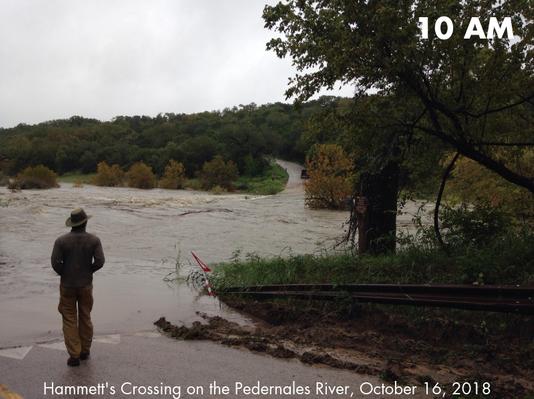 Hammett's Crossing on the Pedernales River 10 AM October 16, 2018.png