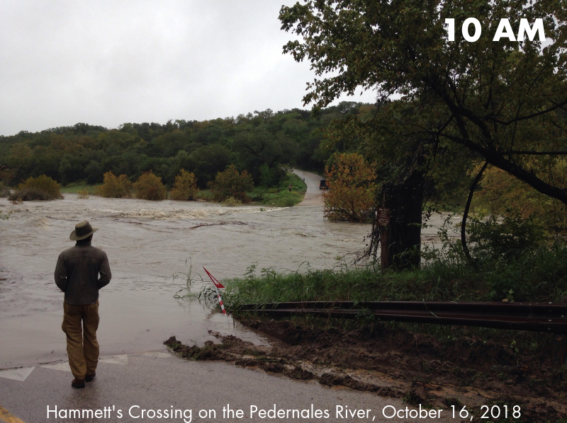 Hammett's Crossing on the Pedernales River 10 AM October 16, 2018.png